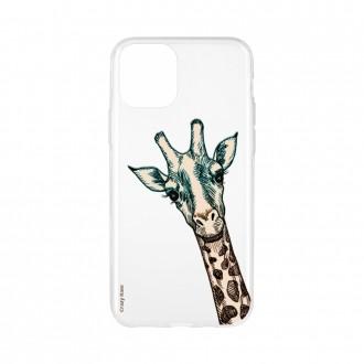 Coque pour iPhone 11 Pro Max souple motif Tête de Girafe - Crazy Kase