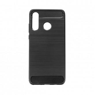 Coque pour Huawei P40 Lite E Noir souple effet carbone - Crazy Kase