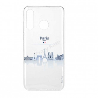 Coque compatible Huawei P30 Lite souple Monuments de Paris - Crazy Kase