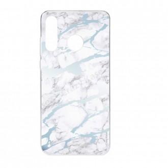 Coque compatible Huawei P30 Lite souple effet Marbre bleu - Crazy Kase
