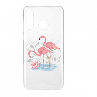 Coque compatible Huawei P30 Lite souple Flamant rose - Crazy Kase