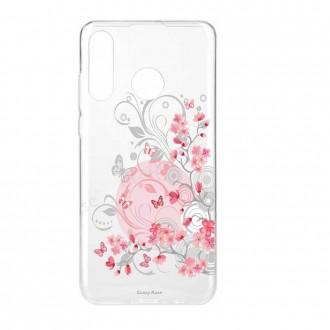 Coque Huawei P30 Lite souple Fleurs et papillons -  Crazy Kase