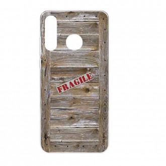 Coque Huawei P30 Lite  souple effet Caisse en bois - Crazy Kase