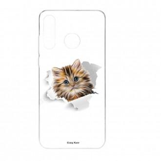 Coque Huawei P30 Lite  souple motif Chat trop mignon - Crazy Kase