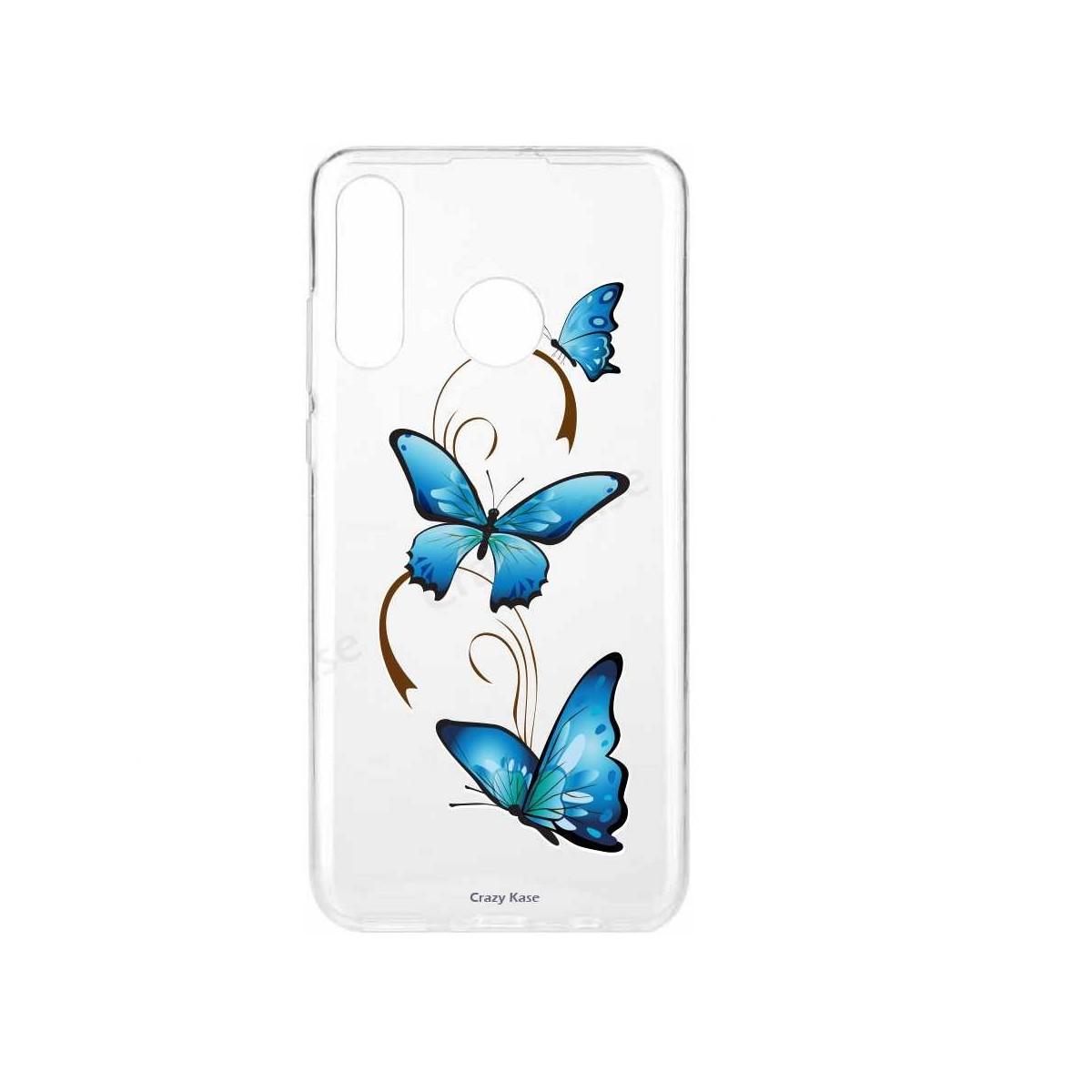 Coque Huawei P30 Lite  souple motif Papillon sur Arabesque - Crazy Kase