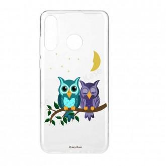 Coque Huawei P30 Lite  souple motif chouettes au clair de lune - Crazy Kase