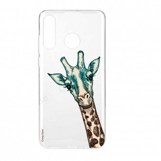 Coque Huawei P30 Lite  souple motif Tête de Girafe - Crazy Kase