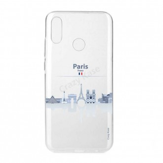 Coque Huawei P Smart 2019 souple Monuments de Paris - Crazy Kase