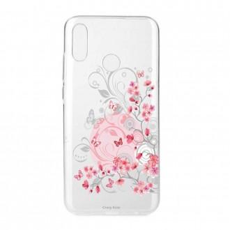 Coque Huawei P Smart 2019 souple Fleurs et papillons - Crazy Kase