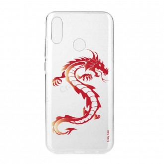 Coque Huawei P Smart 2019 souple Dragon rouge - Crazy Kase