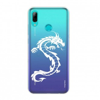 Coque Huawei P Smart 2019 souple Dragon blanc - Crazy Kase