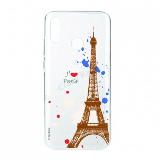 Coque compatible Huawei P Smart 2019 souple Paris -  Crazy Kase