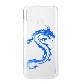 Coque Huawei P Smart 2019 souple Dragon bleu - Crazy Kase