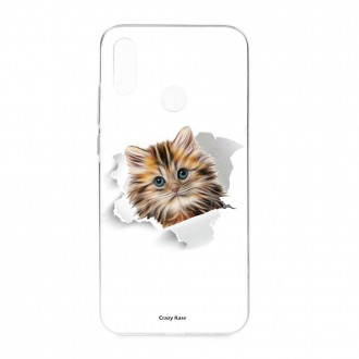 Coque Huawei P Smart 2019 souple motif Chat trop mignon - Crazy Kase