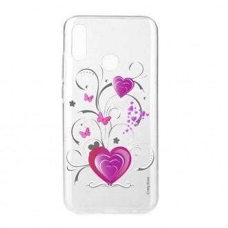 Coque Huawei P Smart 2019 souple motif Cœur et papillon - Crazy Kase
