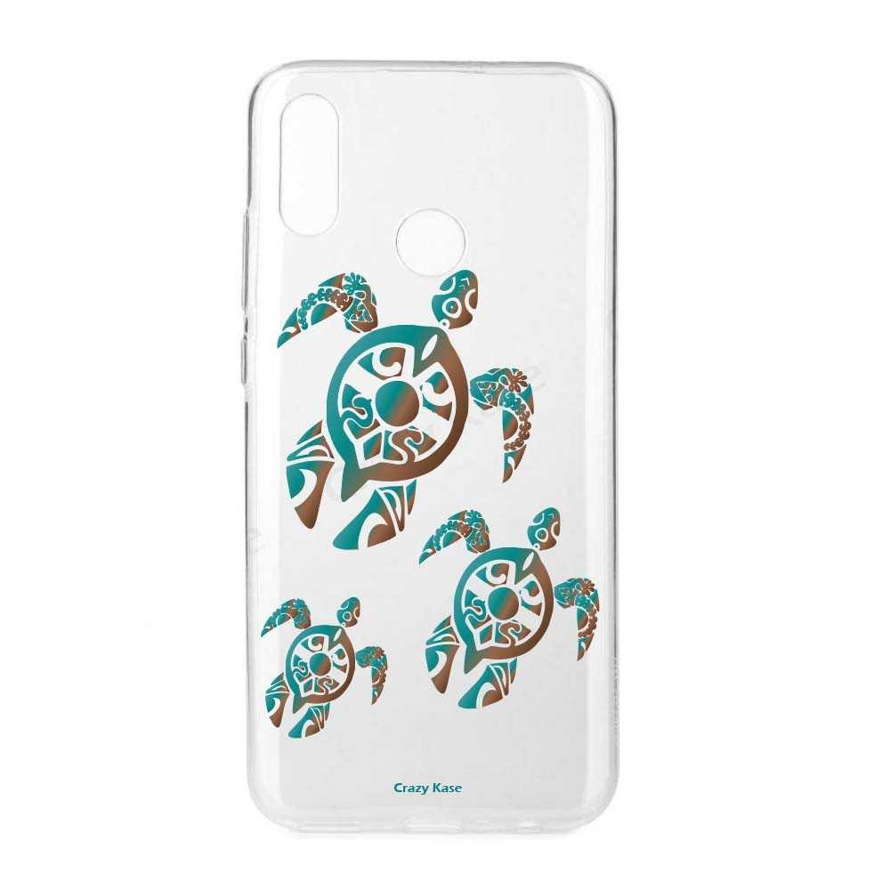Coque Huawei P Smart 2019 souple motif Famille Tortue - Crazy Kase