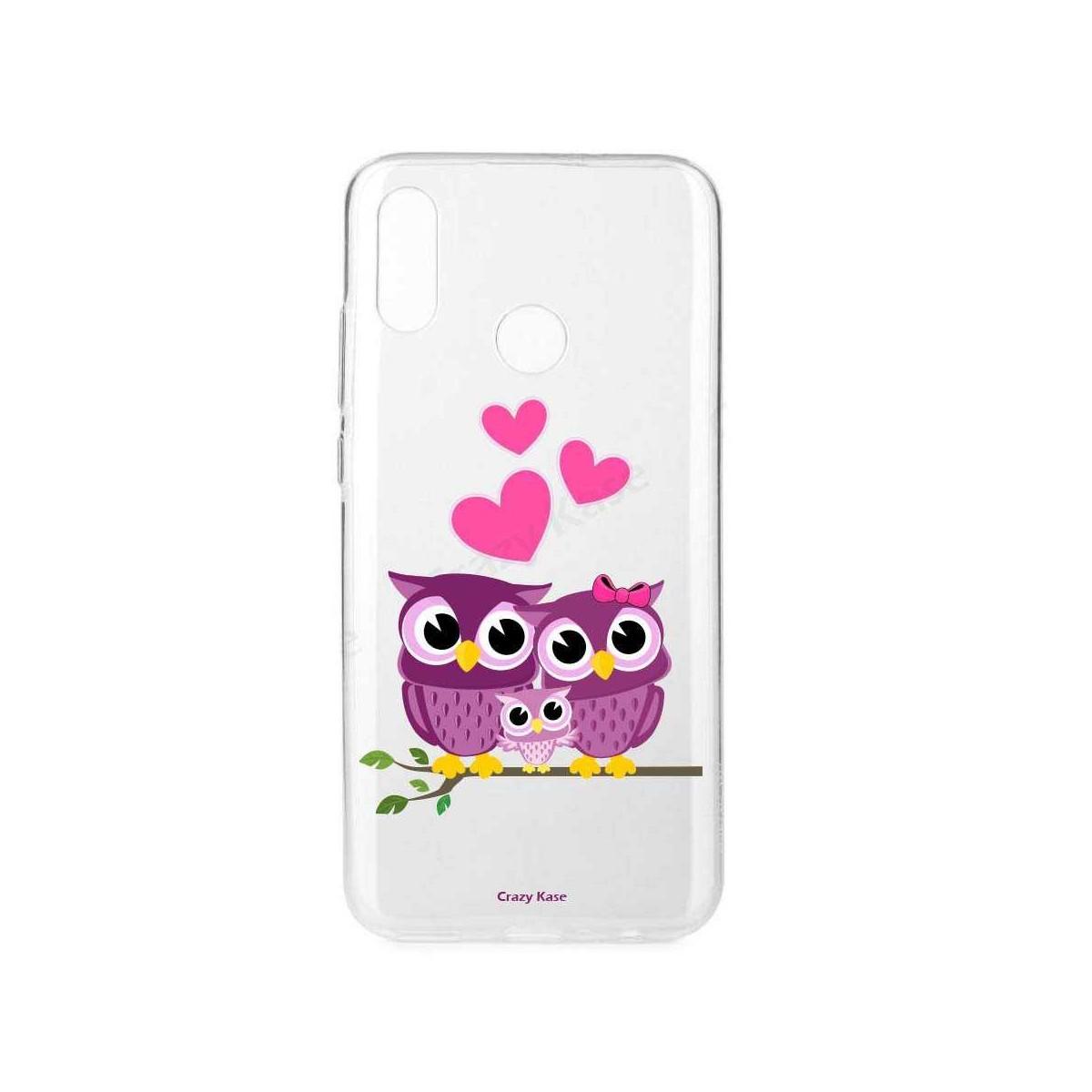 Coque Huawei P Smart 2019 souple motif Famille Chouette - Crazy Kase