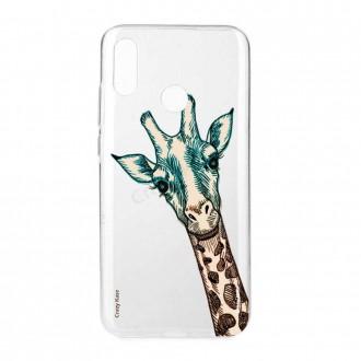 Coque Huawei P Smart 2019 souple motif Tête de Girafe - Crazy Kase