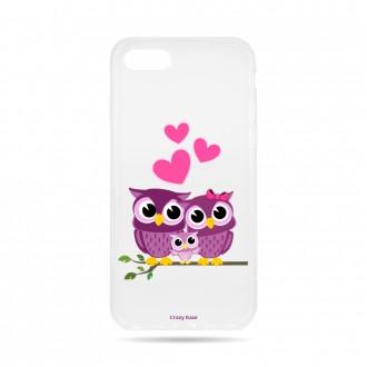 Coque iPhone 7 souple motif Famille Chouette - Crazy Kase