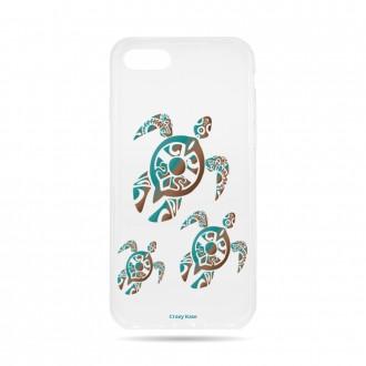 Coque iPhone 7 souple motif Famille Tortue - Crazy Kase