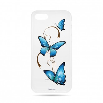 Coque iPhone 7 souple motif Papillon sur Arabesque - Crazy Kase