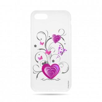 Coque iPhone 7 souple motif Cœur et papillon - Crazy Kase