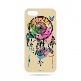 Coque iPhone 7 souple motif Attrape rêve et papillon - Crazy Kase