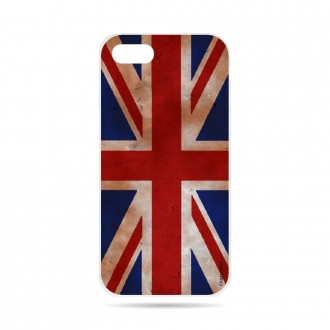 Coque iPhone 7 souple motif Drapeau UK vintage - Crazy Kase