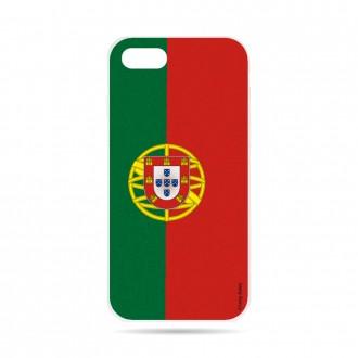 Coque iPhone 7 souple motif Drapeau Portugais - Crazy Kase