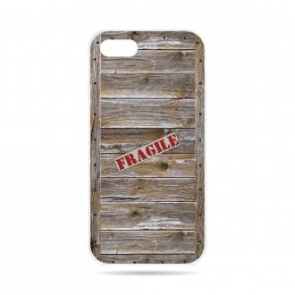 Coque iPhone 7 souple effet Caisse en bois - Crazy Kase