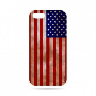 Coque iPhone 7 souple motif Drapeau Américain - Crazy Kase