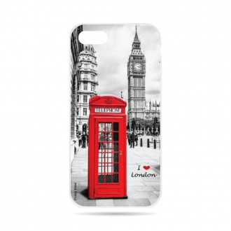 Coque iPhone 7 souple motif Londres -  Crazy Kase