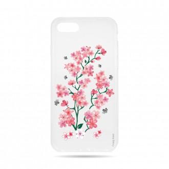 Coque iPhone 8 Transparente souple motif Fleurs de Sakura - Crazy Kase