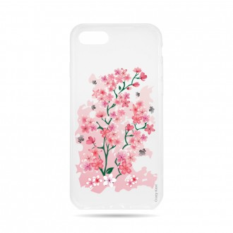 Coque iPhone 8 Transparente souple motif Fleurs de Cerisier - Crazy Kase