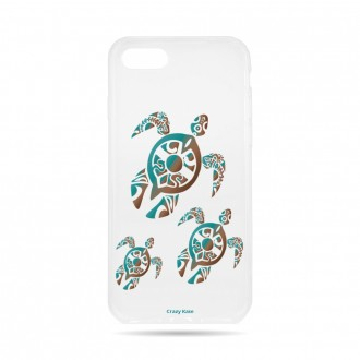 Coque iPhone 8 souple motif Famille Tortue - Crazy Kase