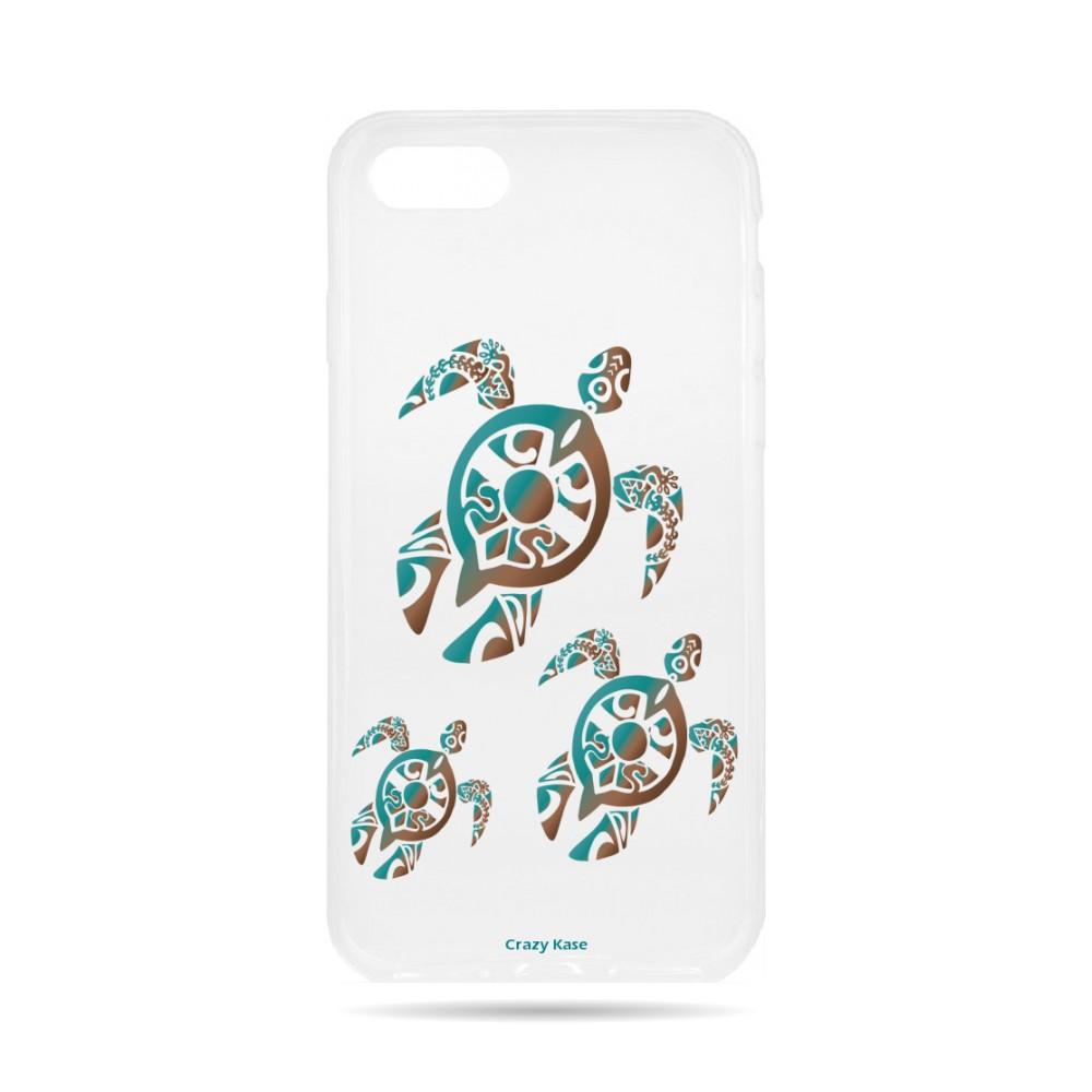 Coque iPhone 8 souple motif Famille Tortue - Crazy Kase