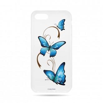 Coque iPhone 8 souple motif Papillon sur Arabesque - Crazy Kase