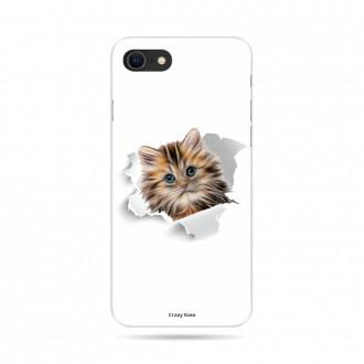 Coque iPhone 8 souple motif Chat trop mignon - Crazy Kase