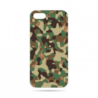 Coque iPhone 8 souple motif Camouflage militaire - Crazy Kase