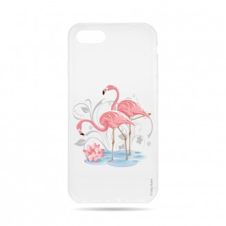 Coque  iPhone 7 / 8 souple Flamant rose -  Crazy Kase