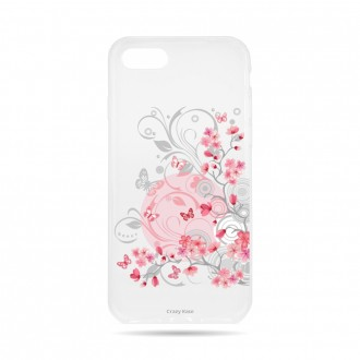 Coque  iPhone 7 / 8 souple Fleurs et papillons -  Crazy Kase