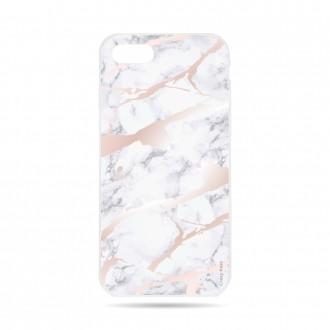 Coque  iPhone 7 / 8 souple effet Marbre rose -  Crazy Kase