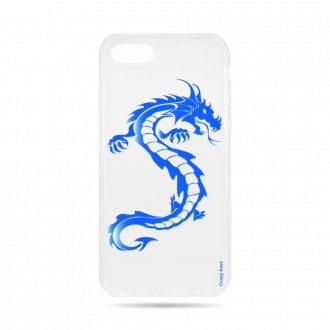 Coque  iPhone 7 / 8 souple Dragon bleu -  Crazy Kase
