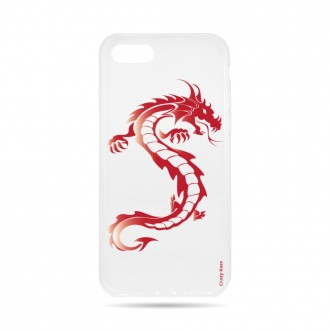 Coque iPhone 7 / 8 souple Dragon rouge -  Crazy Kase