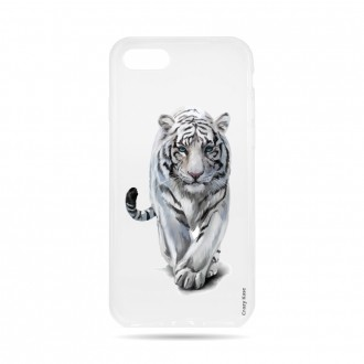 Coque  iPhone 7 / 8 souple Tigre blanc - Crazy Kase