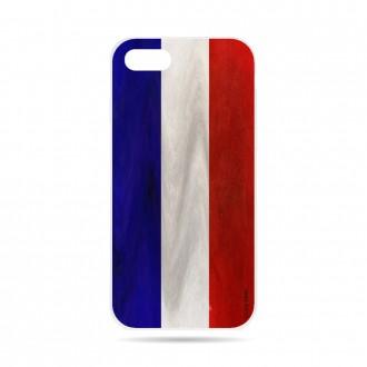 Coque iPhone 8 souple Drapeau Français Vintage- Crazy Kase