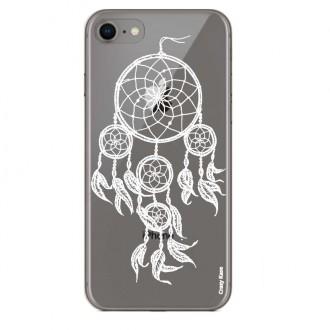 Coque iPhone 8 Transparente souple motif Attrape Rêves Blanc - Crazy Kase