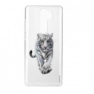 Coque Xiaomi Redmi Note 8 Pro souple Tigre blanc - Crazy Kase