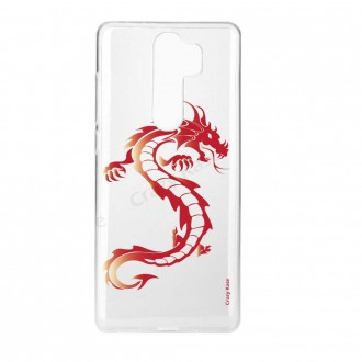 Coque Xiaomi Redmi Note 8 Pro souple Dragon rouge - Crazy Kase
