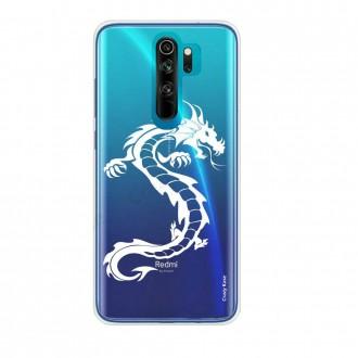 Coque Xiaomi Redmi Note 8 Pro souple Dragon Blanc - Crazy Kase